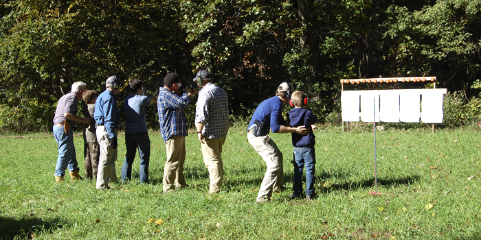 men and boys retreat firearm range